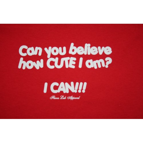 Toddler Can You Believe T-Shirt w/ Creme lettering